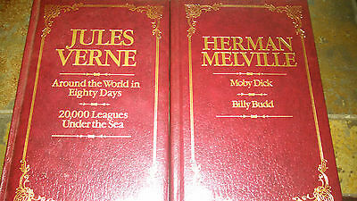 Jules Verne 20,000 seas around the world Melville Moby Dick HB Leather