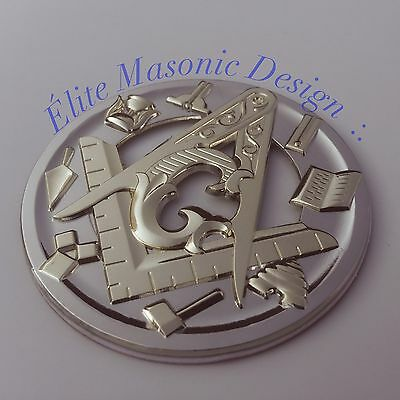 New Masonic Master Mason Cut out Car  Emblem Gold       EMG