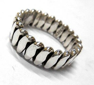 New Sterling Silver 7mm Hand Made MEXICO Heavy Solid Ring Antique VINTAGE RARE