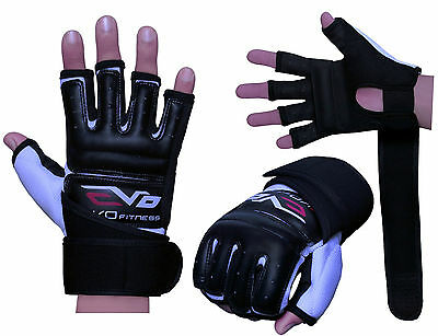 EVO gants mitaines cuir gel sport combat MMA boxe punch bag arts martiaux karaté