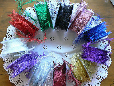 Metallic EYELASH Ribbon Wired 3 Metres 3cm wide Polyester May Arts Choice CLD12