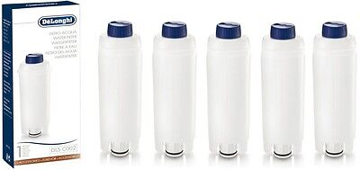 DELONGHI WATER FILTER FOR ESPRESSO COFFEE MAKER & BEAN TO CUP MACHINE x 5 Pack
