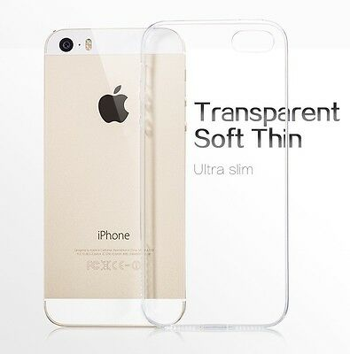 Clear Transparent Crystal Soft TPU Silicone Gel Cover Case Skin for iPhone 5/5s