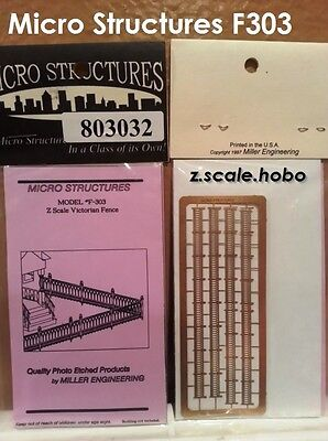Miller Eng Micro-Structures Z F303 Victorian Fence Fencing Kit *NEW *USA DEALER