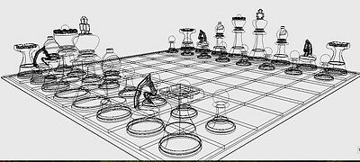 3D Printer Pattern:  Complete Chess Set with UNLIMITED Redistribution License