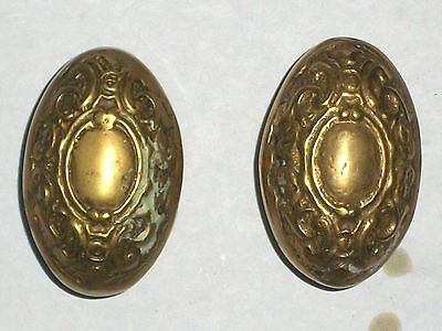 Antique Itallian Oval Door Knob Set