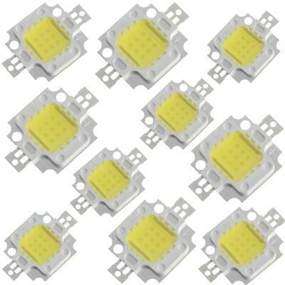 10pcs 10W Cool White High Power LED SMD chip 800-900LM Light Lamp for DIY