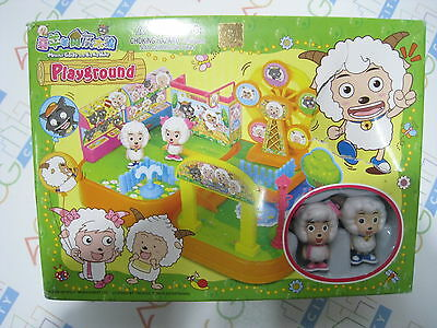 Anime Pleasant Goat and Big Big Wolf Cute Playground Set Infoport Toy