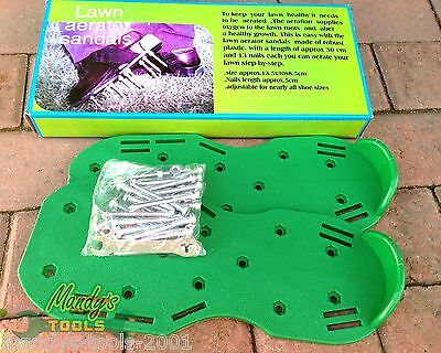Lawn Aerator Spiked Sandals Adjustable Robust Plastic Grass Healthy Lawn QLAWN