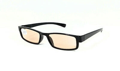 FOCUS ANTI-GLARE 2.00 computer readers reduce blue light & fatigue Black NEW