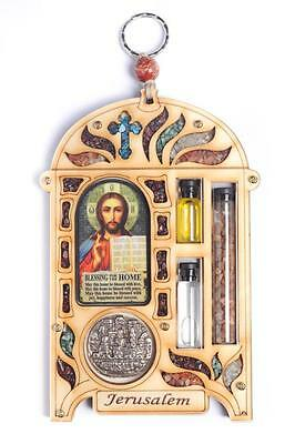16x10 cm Jesus Maria Icon Cross Christ Jerusalem Home Blessing Wall Hanging Gift