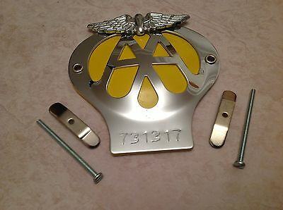 Classic Aa Car Badge Serial Number 731317 In Great Condition As Per Photo