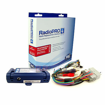 PAC RP4-GM11 Radio Replacement Interface w/Steering Wheel Control Retain for GMC