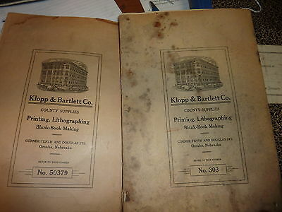 THREE early 20th century POLITICAL voting POLLING book registers Nebraska & VA