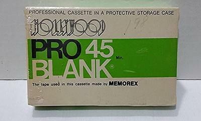 Hollywood Pro 45 Blank Memorex VERY RARE Vintage Audio Cassette Tape  SEALED