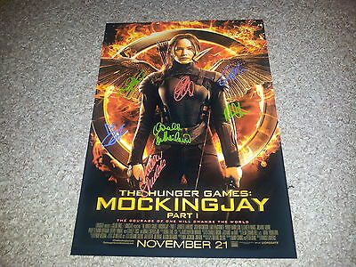 """The Hunger Games : Mockingjay Pt1 Castx7 Pp Signed 12"""" X 8"""" A4 Photo Poster"""