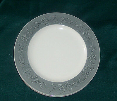 Lot 4 Taylor Smith & Taylor 9 1/2 in Dinner Plates Shadows Vintage