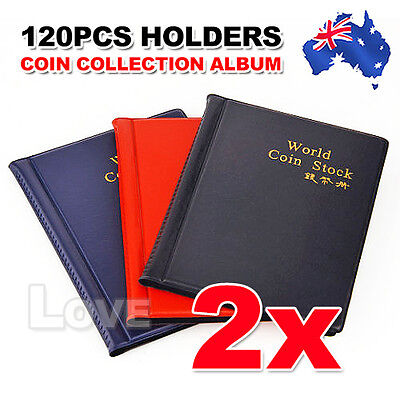 OZ H 2x Coin Holder Collecting Collection Storage Money Pocket Penny Album Book