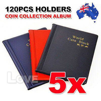 OZ H Coin Holder Collecting Collection Storage Money Pocket Penny Album Book 5x