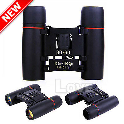 OZ HD 30x60 Binoculars Zoom Folding Telescope Coated Optics Night Day Vision