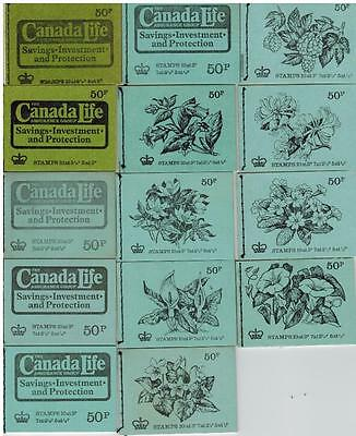 FULL serie 50p STITCHED BOOKLETS DT1 - DT14 = 14 BOOKLETS  FLOWERS &OTHERS& DT12