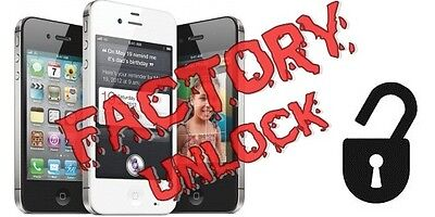 Factory unlock iphone  4/4s/5/5s/5c/6/6+ AT&T clean IMEI only