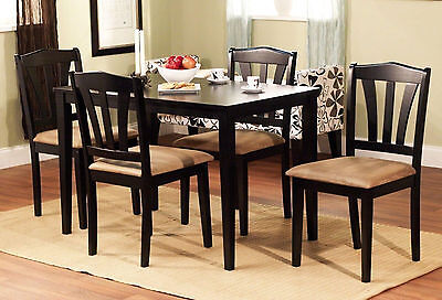 5 piece dining set wood breakfast furniture 4 chairs and table kitchen dinette breakfast sets furniture