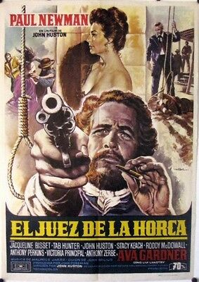 R531 The Life & Times of Judge Roy Bean original Spain movie  Poster Paul Newman
