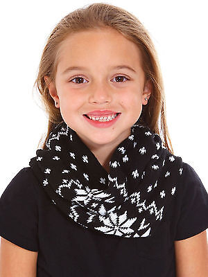 Children Warm Knitted Scarf for the Season Infinity Scarf Neck Shawl