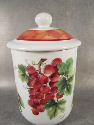 """Royal Doulton Vintage Grape Canister Small 4 3/4""""H Excellent"""