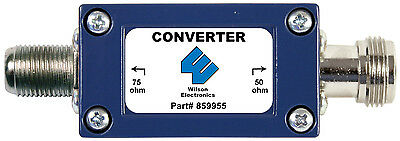 Wilson 859955 50 to 75 Ohm Converter w/ N-Female Connector 859955