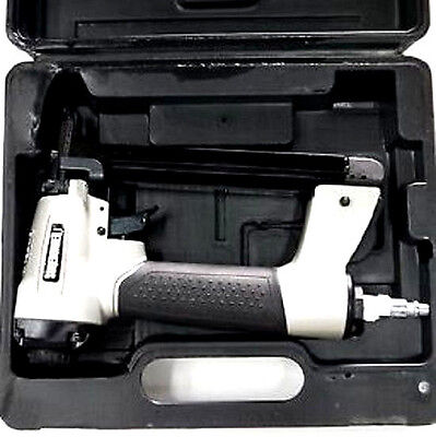 New Heavy Duty Pneumatic Air Staple Gun Case Roofing Upholstery Compact Office