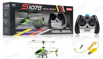 Syma S107G Green 3-Channel 3.5CH Mini Remote Control RC Helicopter Gyro Genuine