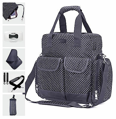 Changing Bag Backpack Navy Diaper Bag Mummy Large Hospital Bag 7PCS - Navy