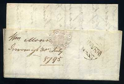 1795 Early Scots INVER/NESS Circular Letter to Edinburgh