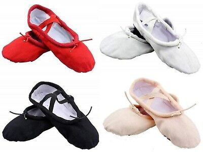 Ballet Shoes Canvas Yoga Gymnastic Split Sole Adult's & Children's Sizes
