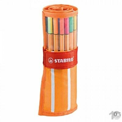STABILO Fineliner point 88 - 30er Rollerset orange-weiß
