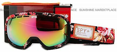 NEW Spy Marshall Goggles-Moon Flower-Pink Spectra Lens-SAME DAY SHIPPING!