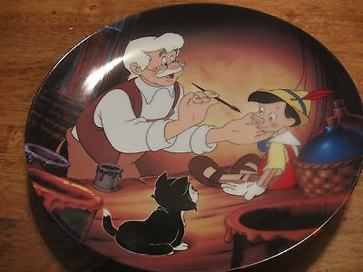 Disney Knowles Geppetto Creates Pinocchio Porcelain Plate Limited Edition