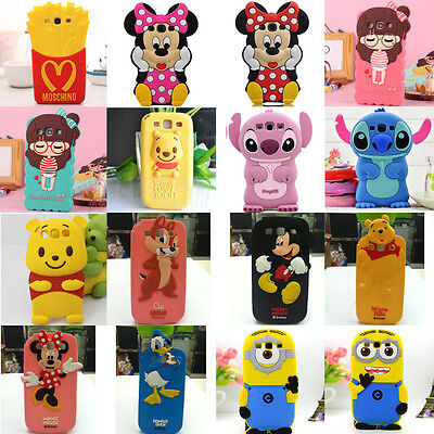 3D Cute Soft Animal Silicone Phone Case Cove For Samsung Galaxy S3 i9300 Cartoon