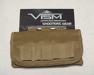 Shotgun Shell Carrier Pouch - Large Capacity 17 Round - TAN - BELT or MOLLE