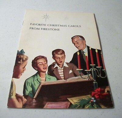 PAIR OF VINTAGE FAVORITE CHRISTMAS CAROLS FROM FIRESTONE BOOK 1960 MUSIC/LYRICS