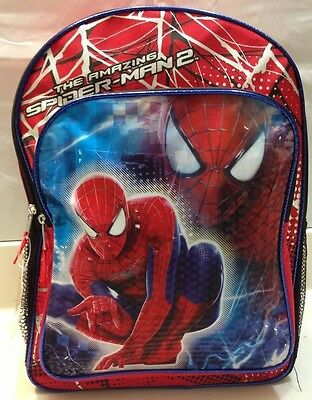 "The Amazing Spider-man 2 large 16"" Backpack school book bag rucksack for boys"