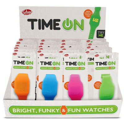 Mini Digital Watch Blink Time Silicon Boys Girls Xmas Christmas Stocking Filler