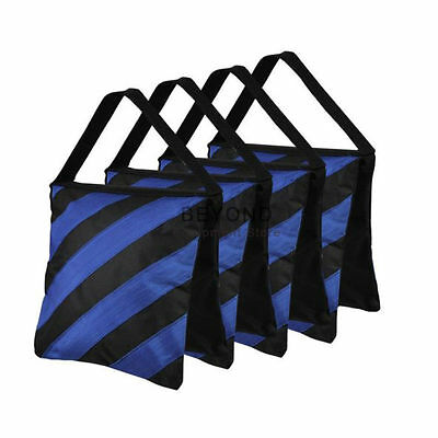 4x Photography Blue Sandbag Photo Weight Bag New Light Boom Stand Sand Bags