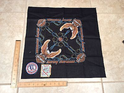 Vintage 1980s Harley-Davidson Motorcycle-Riders Head-Scarf & Patch Group,  NR