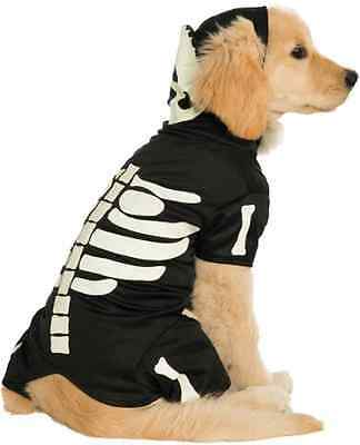 Bones Glow in the Dark Skeleton Hoodie Fancy Dress Halloween Pet Dog Cat Costume