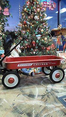 RARE**** FIRESTONE Cruiser Little Red Wagon EUC 1940s Firestone