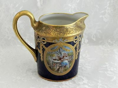 Sevres Cobalt and Gold Courting Scene Creamer
