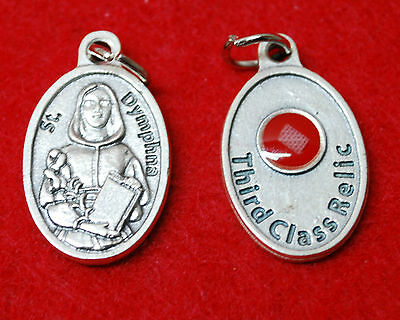 St. DYMPHNA RELIC MEDAL - WITH CLOTH TOUCHED TO HER RELIC